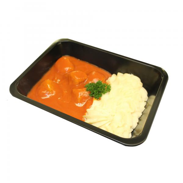 Hoeveslagerij Verstraete Gehaktballetjes in Tomatensaus met Puree