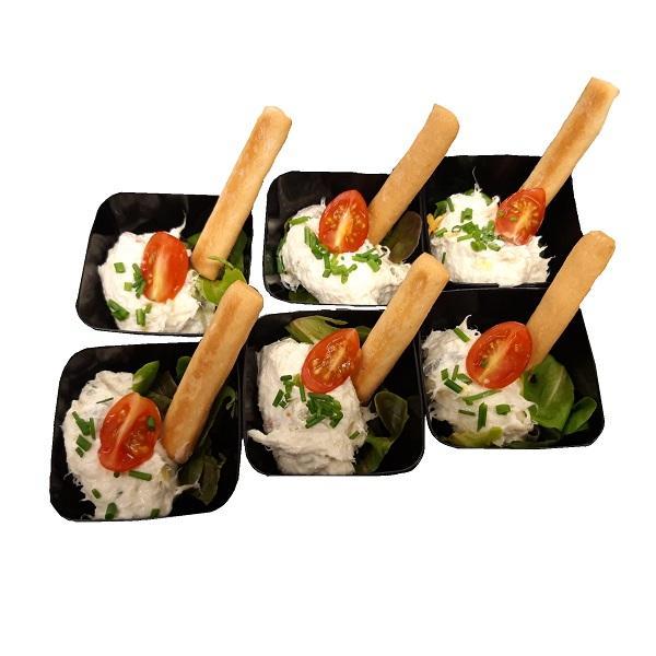 Hoeveslagerij Verstraete Kabeljauwsalade met krokante gissiniotengel